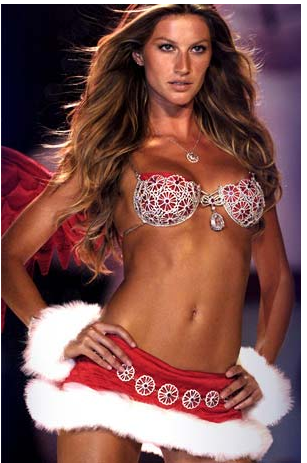 Gisele is so beautiful... I'll never look like that in my underwear. Damn it, I'm going to go buy some underwear.