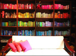 color bookcase