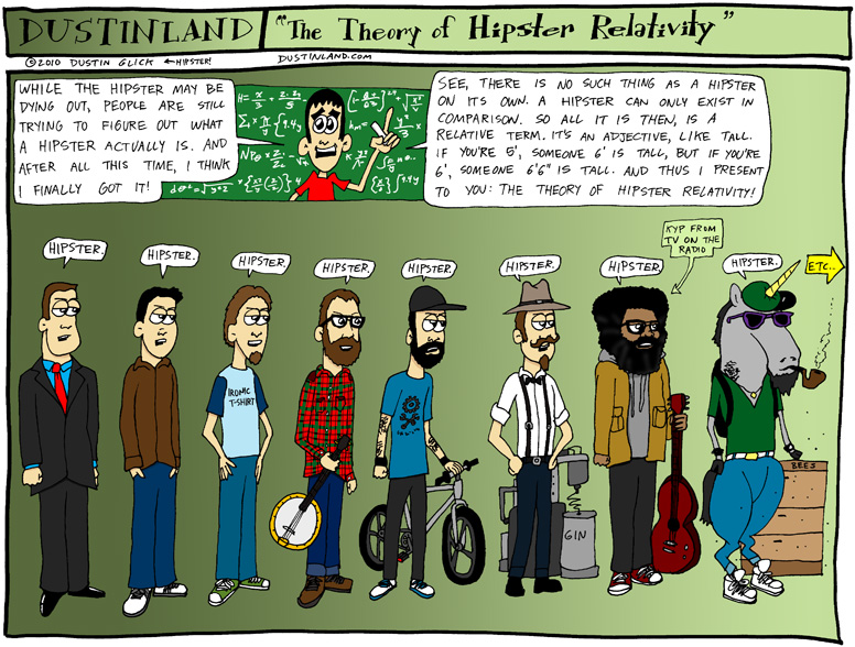 The Theory of Hipster Relativity